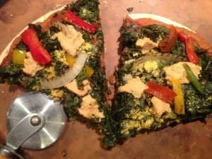 Healthy vegan pizza