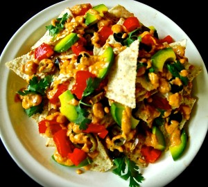 Vegan nachos with SPREAD