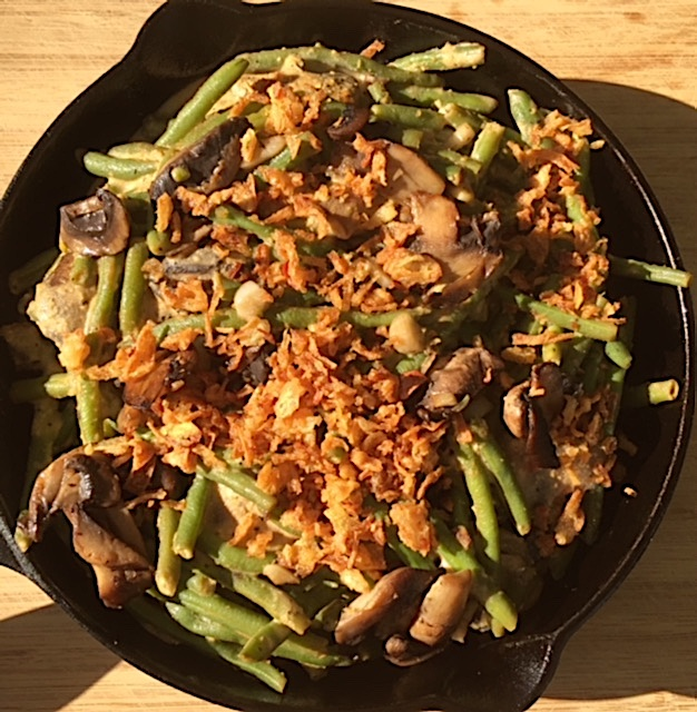 Vegan Mushroom and Green Bean Casserole